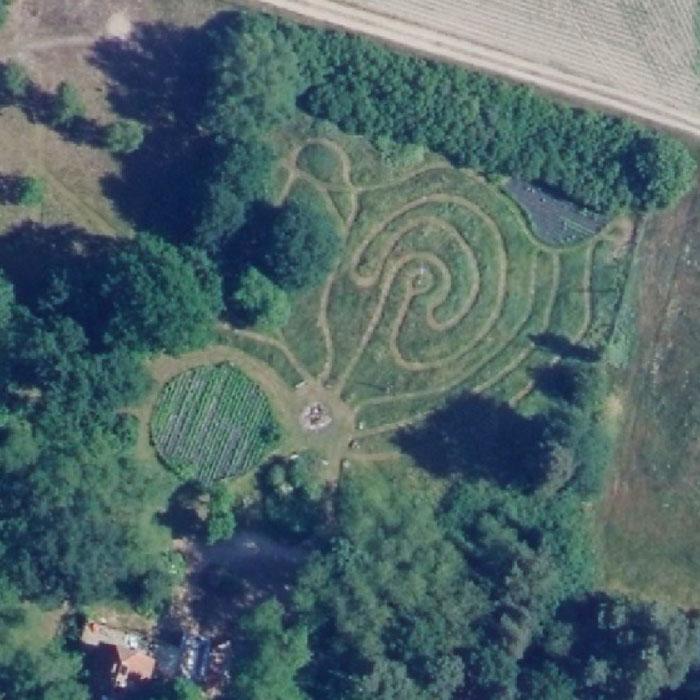 Labyrinth-von-oben